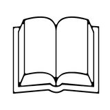 The book. Open blank book. Just complete the blanks and personalize it Stock Photography
