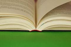 Book. Opened book, green area for copy space Royalty Free Stock Photo