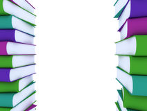 Book. Pile of books - isolated on white background Stock Photography