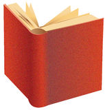 Book. Open book with a reddish cover Stock Photos