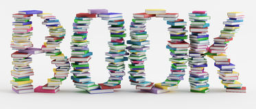 Book. Letters are made of colorful books Stock Image