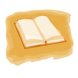Book. Open book on yellow background Stock Illustration