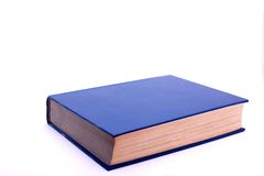 Book. A blue book, isolated on white Stock Image