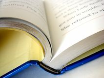 Book #3. Partial book with the bottom of book in focus stock photos