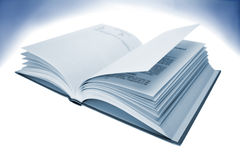 Book. Open pages of book, blue tone Stock Photography