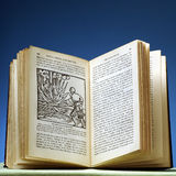Book. Old book on plague and medicine royalty free stock image