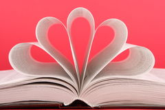 Book. The book, a symbol of heart Stock Photo