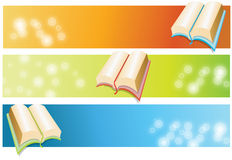 Book. Vector abstract book banner colourful blurred Royalty Free Stock Photo