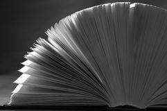 Book. B&W background royalty free stock photography
