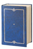 Book. An old book with a blue cover on white Royalty Free Stock Photography