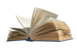 Book. The open book on a white background Stock Image