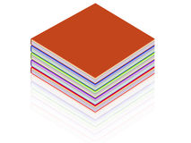 Book. Illustration of a book with colored pages Royalty Free Stock Photography