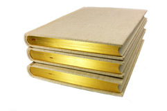 Book. The gold-plated high-books Stock Image