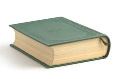 Book. With green cover on the background Stock Photo