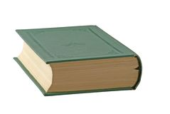 Book. With green cover isolated over white Stock Image