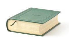 Book. With green cover on the background Stock Image