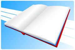 Book. Red book on a blue background Stock Photos