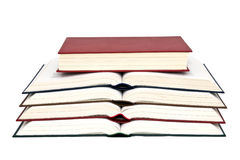 Book. Colored books white background isolate Stock Photos