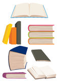 Book. Many books and notebooks, different color, make in Corel Draw Royalty Free Stock Image