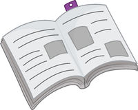 Book. An illustration of an open book Royalty Free Stock Images