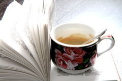 Book. Coffee and book on the table royalty free stock photo
