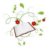 Book. Life book isolated on a white background. Vector illustration Royalty Free Stock Images