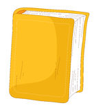 Book. Big book with yellow cover isolated on the white background Stock Photo