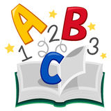 Book of ABC 123. Vector Illustration of Book of ABC royalty free illustration