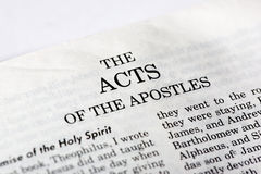Book of Acts stock photography