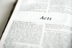 Book of Acts Royalty Free Stock Image