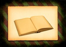 Book against retro background Royalty Free Stock Images