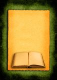 Book against retro background. Open old book against retro background Royalty Free Stock Photo