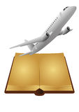 Book airplane Royalty Free Stock Images