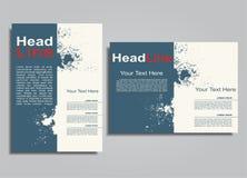 Book album brochure cover design template. Vector illustration. Royalty Free Stock Image