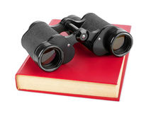 Book And Binoculars Royalty Free Stock Images