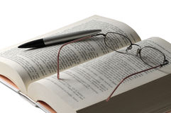 Book And Glass Royalty Free Stock Photography