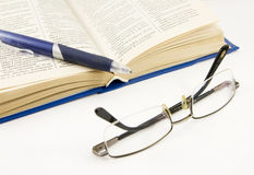 Book And Glasses Stock Images