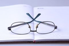 Book And Glasses Stock Photos