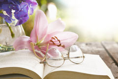 Free Book And Glasses Reading Concept Royalty Free Stock Image - 75645086