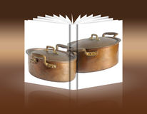 Book of antique copper pots Royalty Free Stock Image