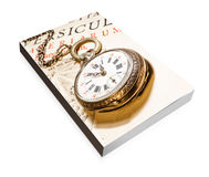 Book of antique pocket watch Stock Images