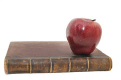Book and an apple Stock Photo