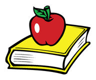 Book & apple Stock Photography
