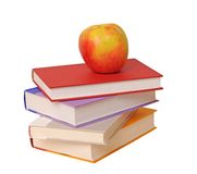 Book and apple Royalty Free Stock Photos