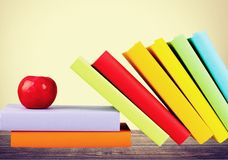 Book. Apple Study White Classroom Education Backgrounds Stock Photos