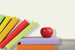 Book. Apple Study White Classroom Education Backgrounds Royalty Free Stock Photos