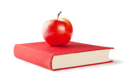 Book with apple Royalty Free Stock Photos