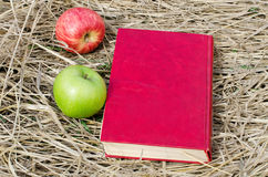 Book and apples Royalty Free Stock Photography