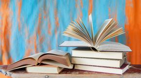 Book arrangement Royalty Free Stock Images
