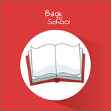 Book of back to school design Royalty Free Stock Images